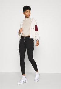 ONLY - ONLNELLA PULLSTRING CREWNECK - Long sleeved top - pumice stone - 1