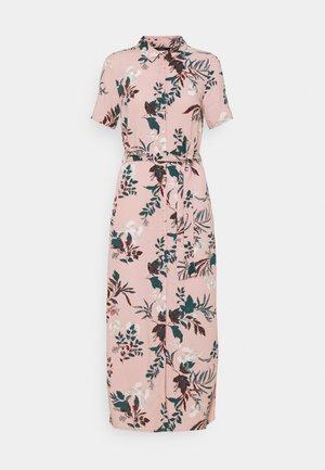 VMSIMPLY EASY LONG SHIRT - Vestido camisero - misty rose