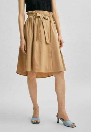 LOOSE FIT - A-line skirt - tigers eye