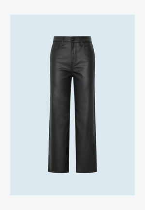 Leather trousers - denim