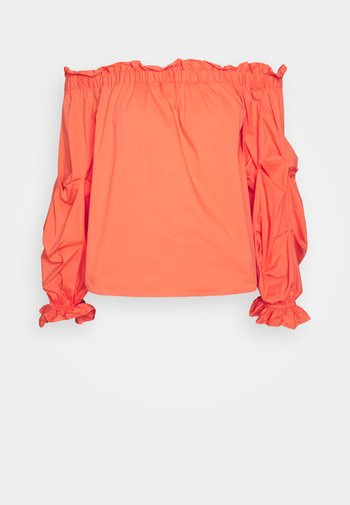 RUCHED BARDOT  - Bluzka - orange