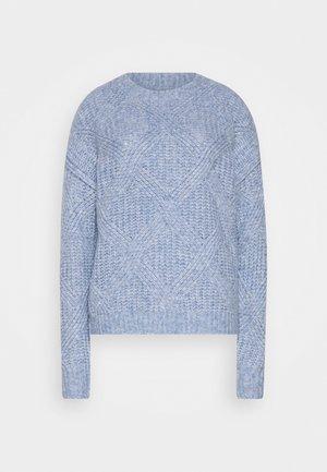 Strickjacke - cosy blue melange