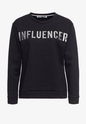 MIT PAILLETTEN - Sweatshirt - schwarz