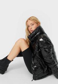 Stradivarius - Winter jacket - black - 3
