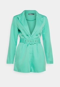 Missguided - BELTED TUX PLAYSUIT - Combinaison - green - 0