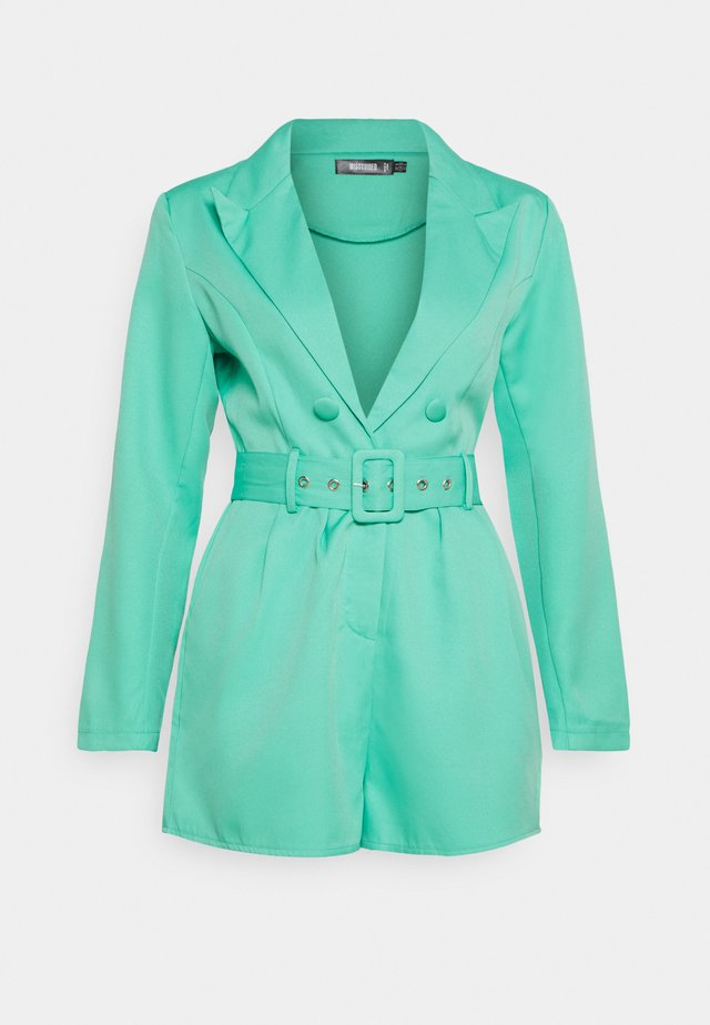 BELTED TUX PLAYSUIT - Mono - green