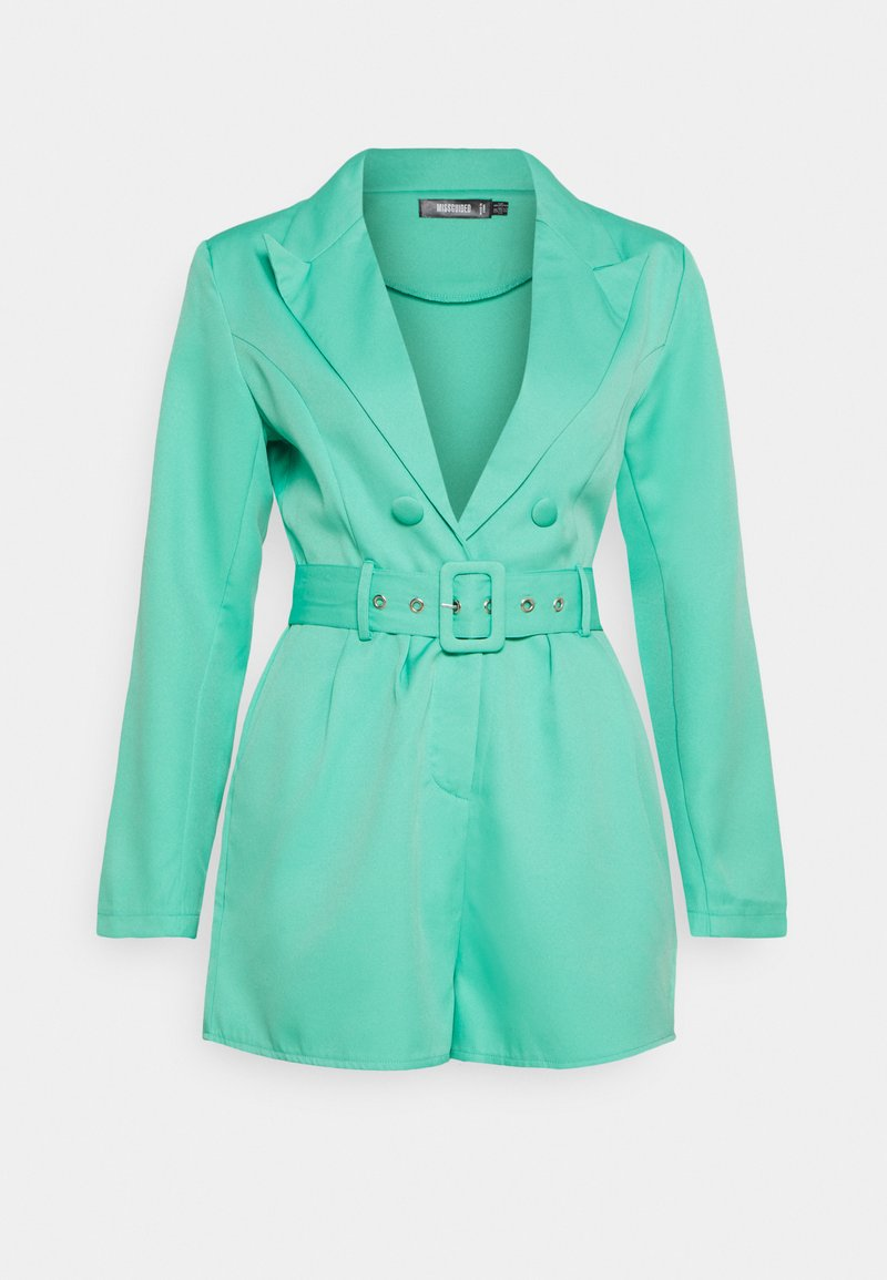 Missguided - BELTED TUX PLAYSUIT - Combinaison - green