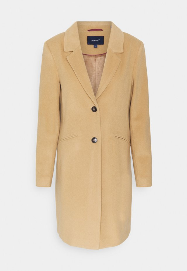 CLASSIC TAILORED COAT - Cappotto classico - dark khaki