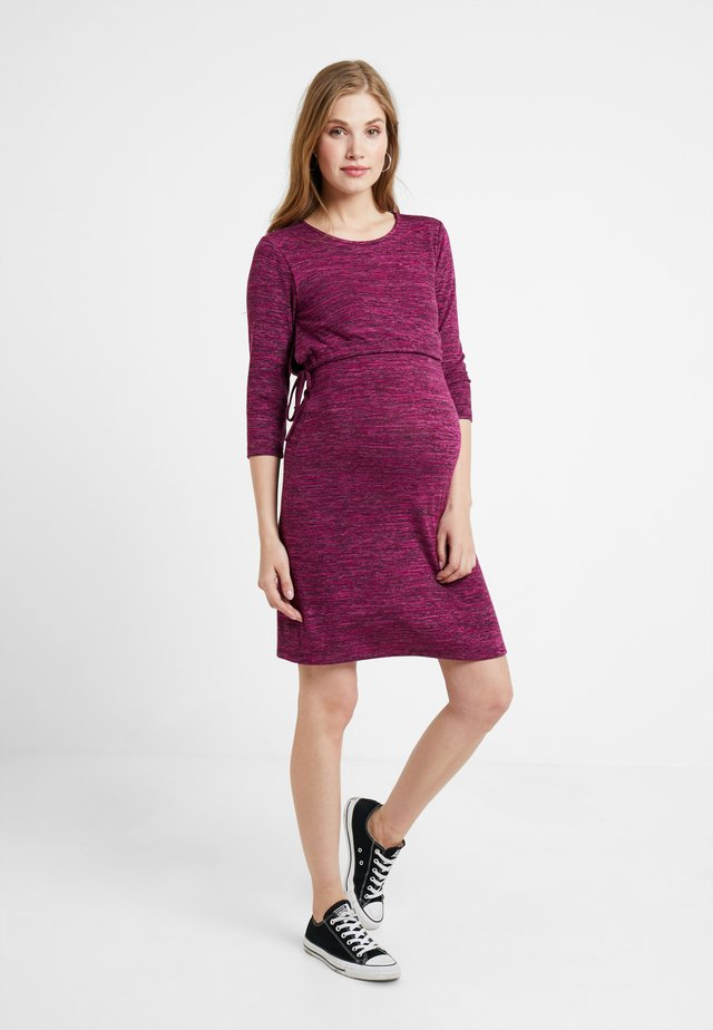 DRESS NURSING - Jumper dress - plum red