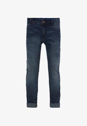 WE FASHION JONGENS ULTRA SKINNY JEANS MET DISTRESSED DETAILS - Jeans Skinny Fit - dark blue