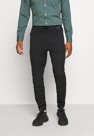 MOTO DETAILS GALFOS - Spodnie materiałowe - black