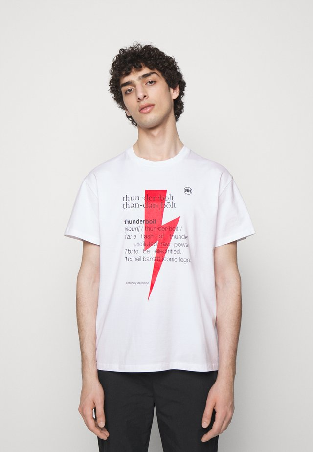 THUNDERBOLT DEFINITION SERIES - T-shirt con stampa - white/red/black