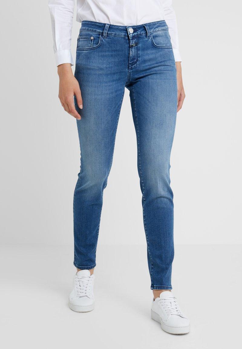CLOSED - BAKER LONG - Jean slim - mid blue