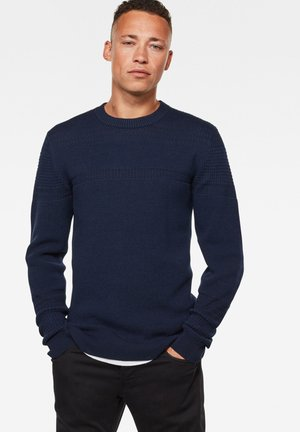 STRUCTURE STRIPE ROUND LONG SLEEVE - Trui - imperial blue/sartho blue