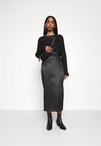 Weekday - SIGNE SKIRT - Pencil skirt - black - 1