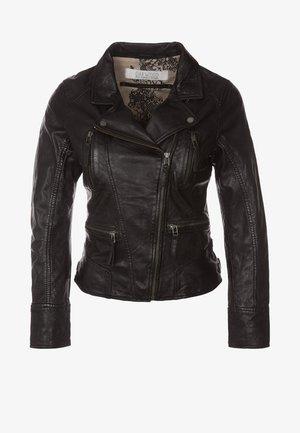 CAMERA - Kožená bunda - schwarz