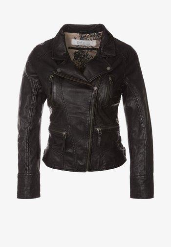 CAMERA - Leather jacket - black