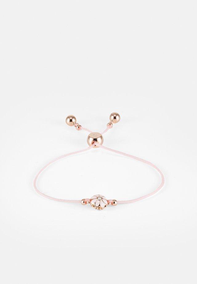 DARSAY DAISY FRIENDSHIP BRACELET - Bracelet - rose gold-coloured/baby pink