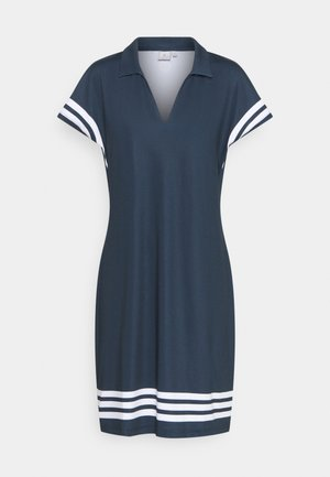 STRIPE DRESS - Sports dress - navy