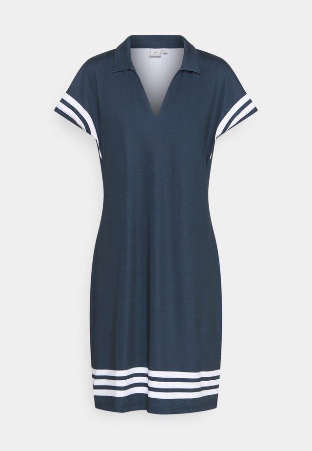 STRIPE DRESS - Robe de sport - navy