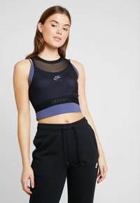 Nike Sportswear - TANK CROP BASELAYER - Topper - black - 0