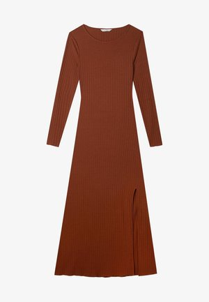MIT SCHLITZ  - Długa sukienka - light brown