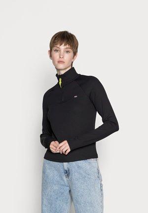 SLIM TECHNICAL QUARTER ZIP - Long sleeved top - black