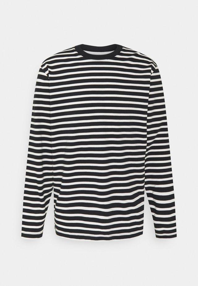 SLHRELAXCOLMAN O NECK TEE  - Maglietta a manica lunga - black/egret
