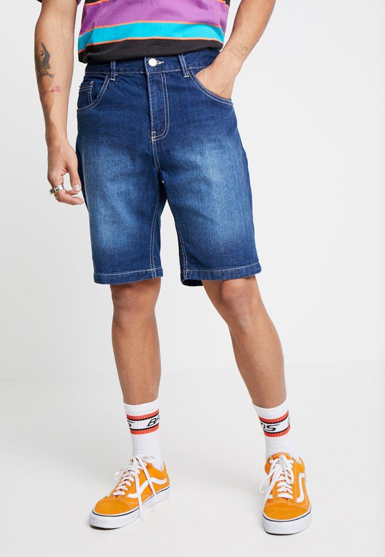 Brave Soul - Denim shorts - mid blue wash