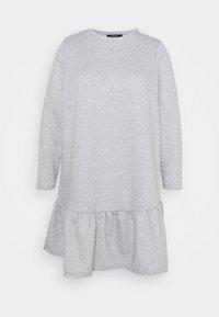 New Look Curves - DROP HEM DRESS - Denní šaty - grey niu - 5