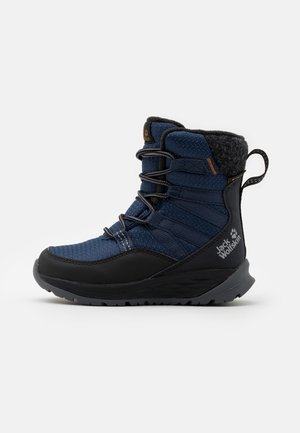 POLAR BEAR TEXAPORE HIGH UNISEX - Winter boots - blue/black