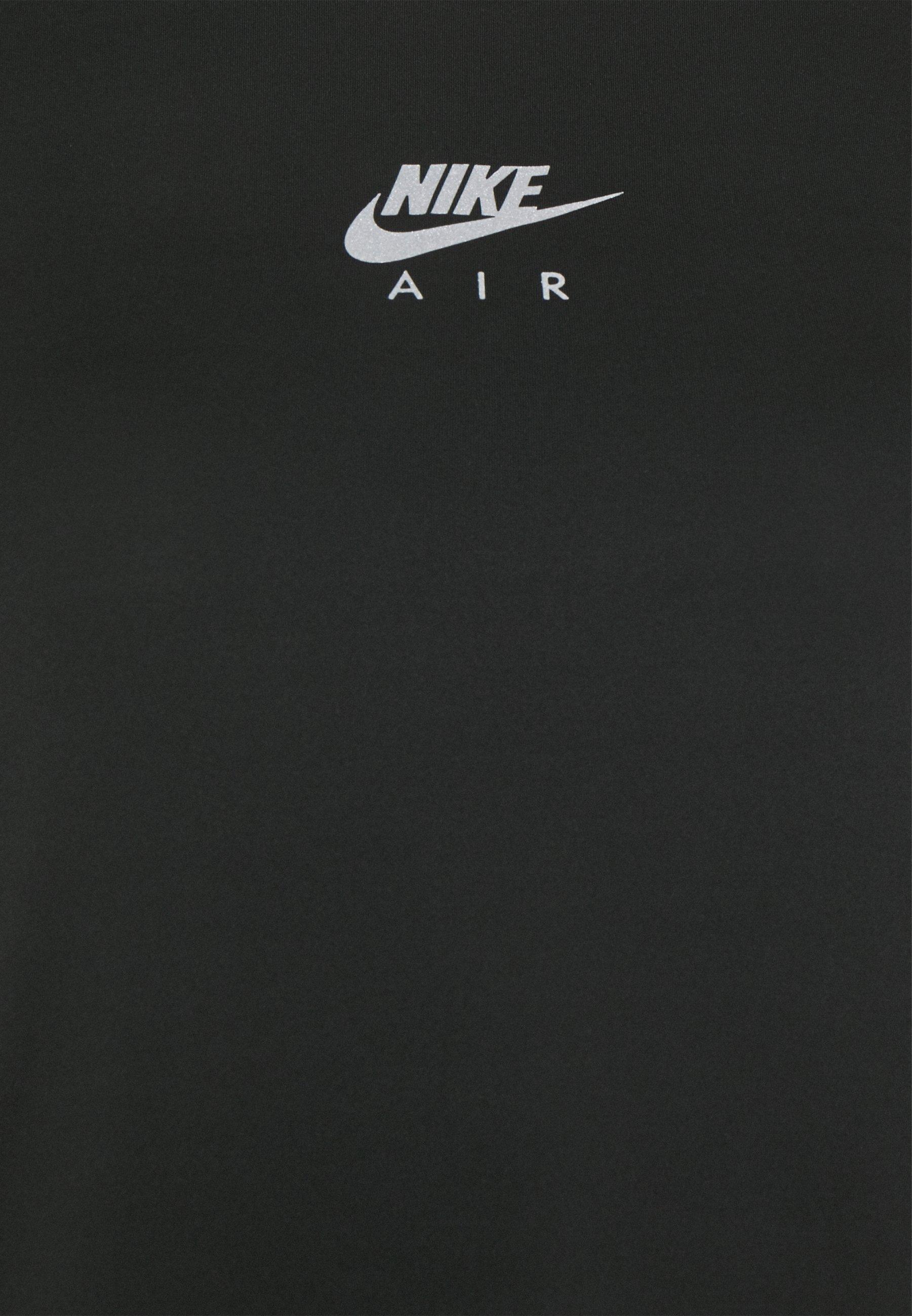 Nike Performance AIR TANK - Sports shirt - black/silver wvPuw
