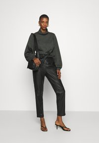 Second Female - INDIE TROUSERS - Leather trousers - caviar - 1