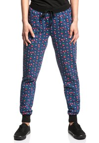 Pussy Deluxe - CAT PAWS & CHERRIES - Tracksuit bottoms - blau allover - 0
