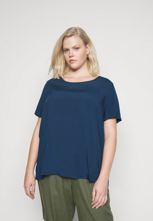 CARVIS TOP SOLID - Bluzka - dark denim