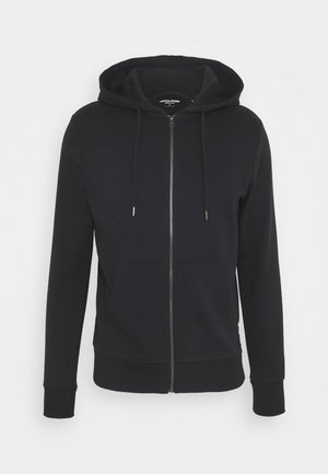 JJEBASIC ZIP HOOD - Bluza rozpinana - black
