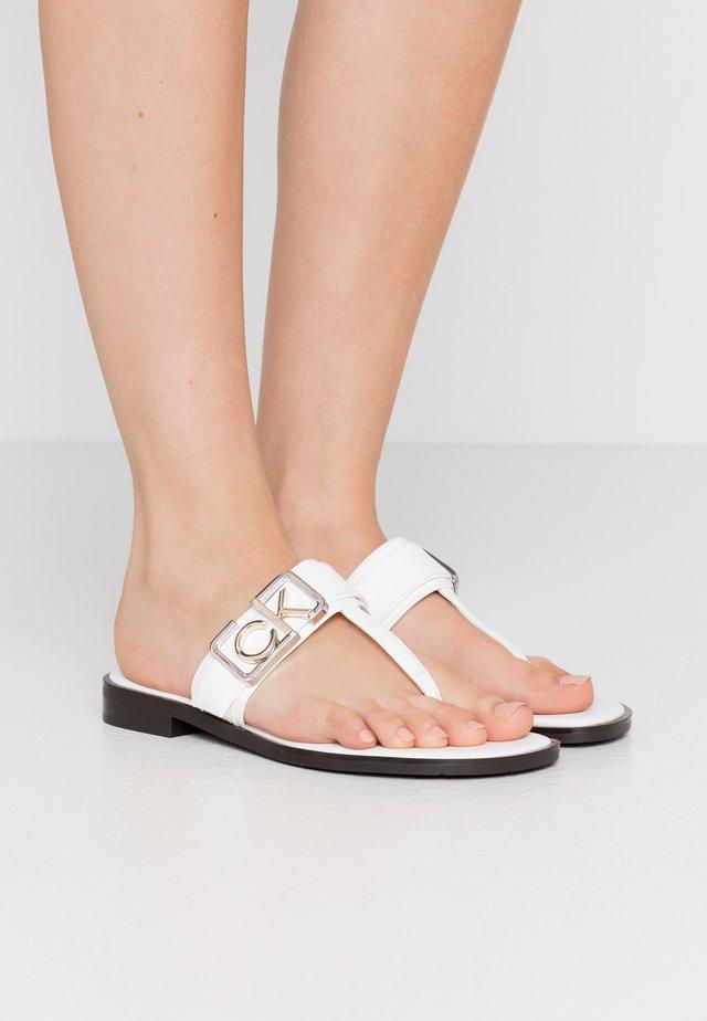 TAMURA - Flip Flops - white