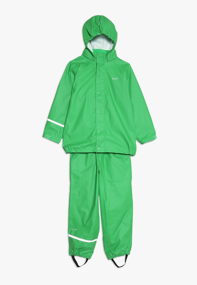 BASIC RAINWEAR SUIT SOLID - Rain trousers - green