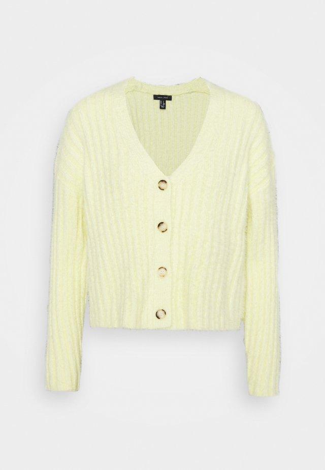 FLUFFY - Cardigan - light yellow