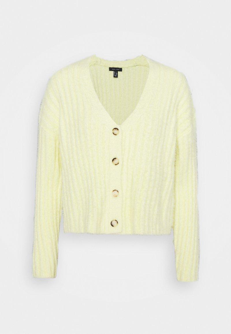New Look - FLUFFY - Gilet - light yellow