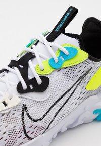 Nike Sportswear - REACT VISION - Sneakers - white/black/volt/blue fury - 7