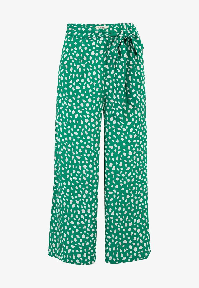 OTTILIE PAINTERLY SPOT - Trousers - green