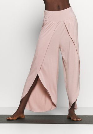 WRAP SPLIT YOGA PANT - Verryttelyhousut - adobe rose