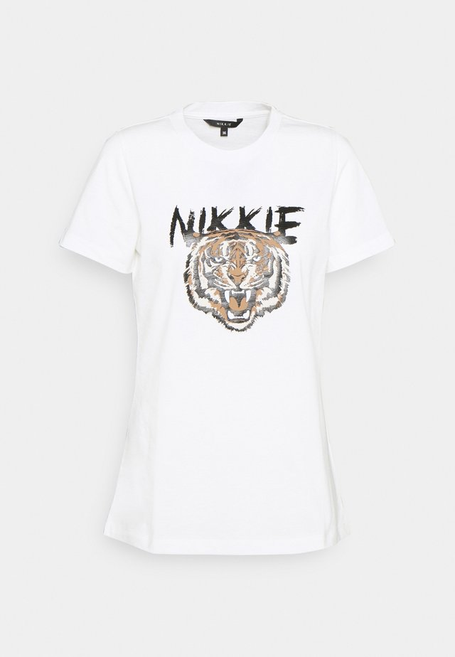 TIGER - T-shirt print - star white