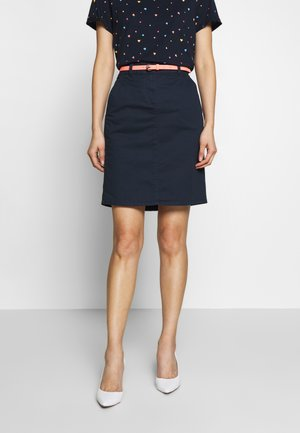 SKIRT BELTED - Pencil skirt - sky captain blue