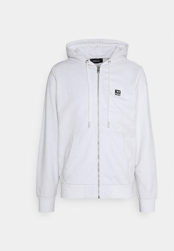 GIRK HOOD ZIP - Zip-up sweatshirt - white