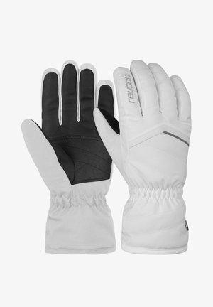 Gloves - white silver