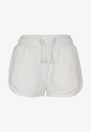 LADIES TOWEL HOT PANTS - Trainingsbroek - white