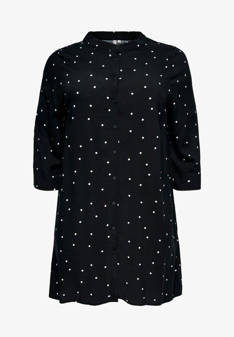 ONLY Carmakoma - Button-down blouse - black