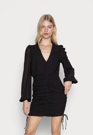 ISA DRAWSTRING DRESS - Cocktailkjole - black